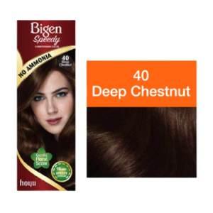 bigen speedy conditioning color (deep chestnut) 80gm