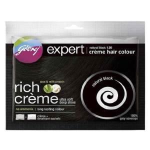 godrej expert rich creme hair natural black color 20ml