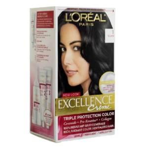 loreal paris hair color cream excellence 1 black 24ml