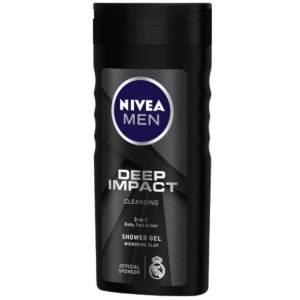 nivea men deep impact cleansing shower gel 250ml