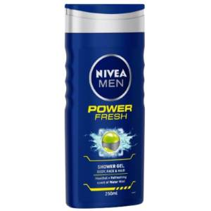 nivea men shower gel power refresh 250ml