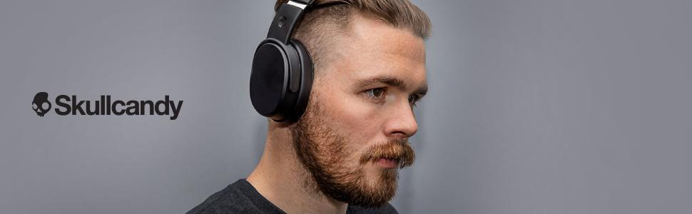 bluetooth headphones wireless microphone skullcandy crusher men women