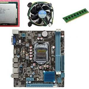 KharidiyeBasic Zebronics Motherboard Combo H55 Chipset Motherboard with Intel Core I5-1st Gen Processor with 4 GB DDR3 RAM Intel Fan-0
