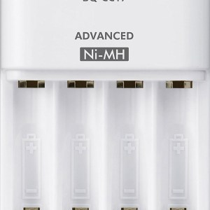 Panasonic BQ-CC17SBA eneloop Advanced Individual Battery Charger with 4 LED Charge Indicator Lights, White-0