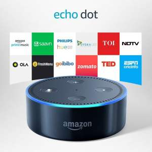 Echo Dot - Voice control your music, Make calls, Get news, weather & more - Black 2nd Generation-0