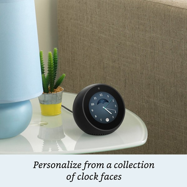 Amazon Echo Spot - Stylish echo with a screen, Make video calls, Voice control your music, news, weather & more - White-5441
