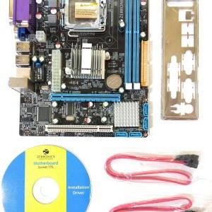 Zebronics Q33 Chipset, Z31 Motherboard Socket 775 with 4 SATA PORTS, FSB 1066/1333, 5.1 Audio, LAN 10/100, 1 PCIe Slot-0