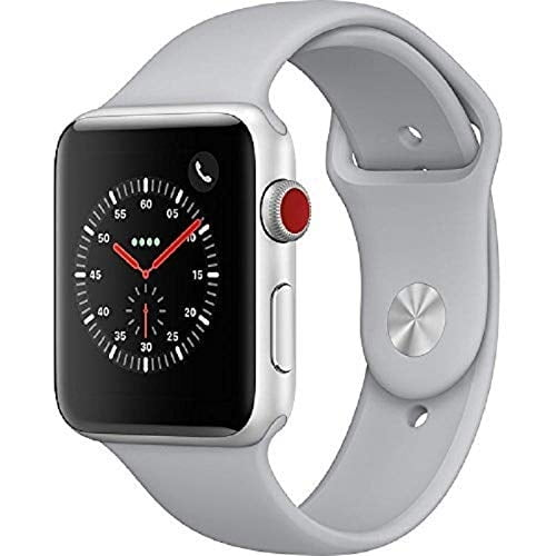 Apple Watch Series 3 42mm Smart Watch with GPS (Silver Aluminium Case with White Sport Band)-0