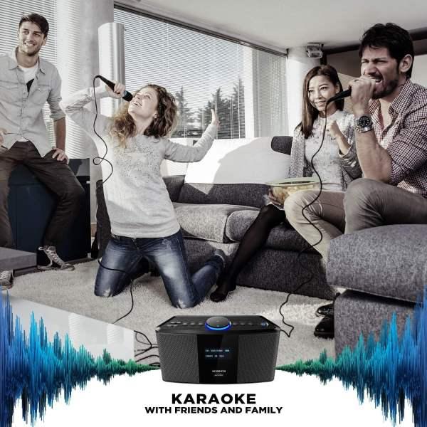 Acoosta AWR-M11/21 Karaoke Mic (Gray)-5932