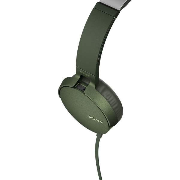 Sony Extra Bass MDR-XB550AP On-Ear Headphones with Mic (Green)-6567
