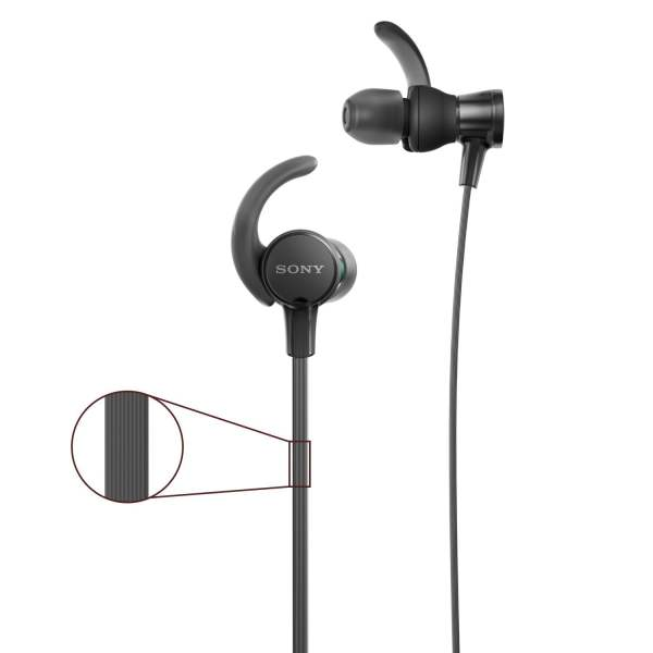 Sony Extra Bass MDR-XB510AS in-Ear Sports Headphones with Mic (Black)-6619