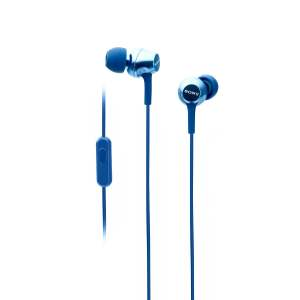 Sony MDR-EX255AP in-Ear Headphones with Mic (Blue)-0