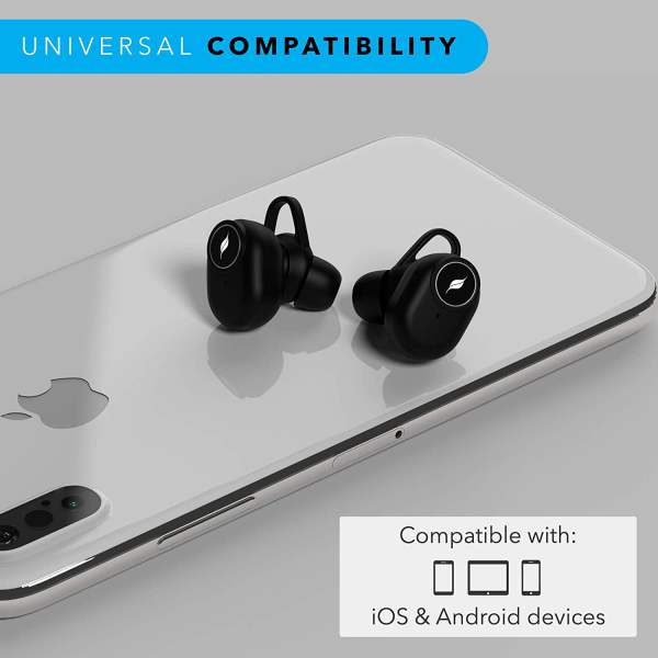 Leaf Pods Truly Wireless Bluetooth 5.0 Earphones (Carbon Black)-7050