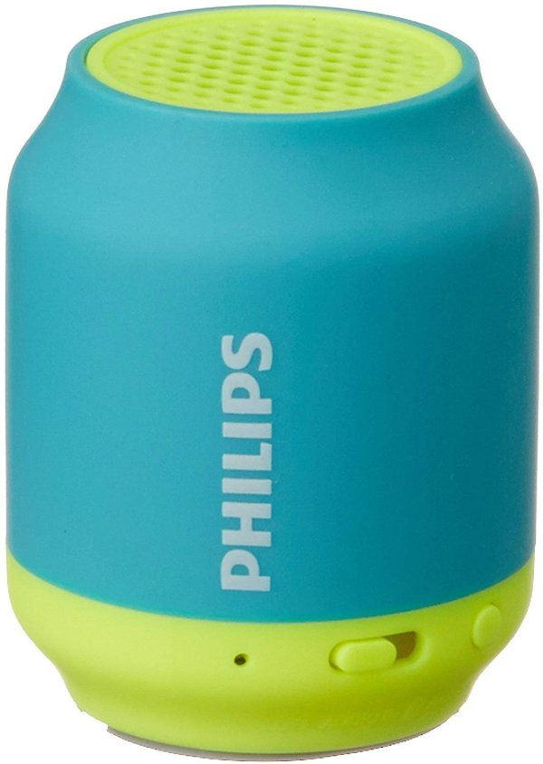 Philips BT50B Portable Wireless Bluetooth Speaker, Blue-0