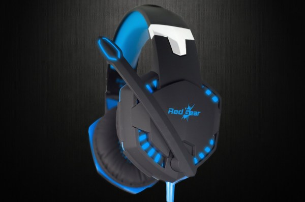 Redgear HellFury 7.1 USB Professional Gaming Headphones with LED and Mic for PC-7459