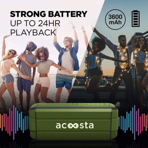 ACOOSTA BOLD 370 Portable Wireless Bluetooth Speaker (Military Green)-7998