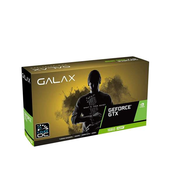 GALAX GeForce GTX 1660 Super 1-Click OC 6GB GDDR6 192-bit DP/HDMI/DVI-D Graphic Card-0
