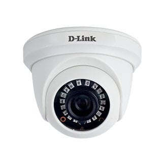 D-Link 2MP HD Day and Night Fixed Dome Camera with 20M of IR Range (White)-0