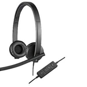 Logitech USB H570e Corded Double-Ear Headset (981-000574)-0