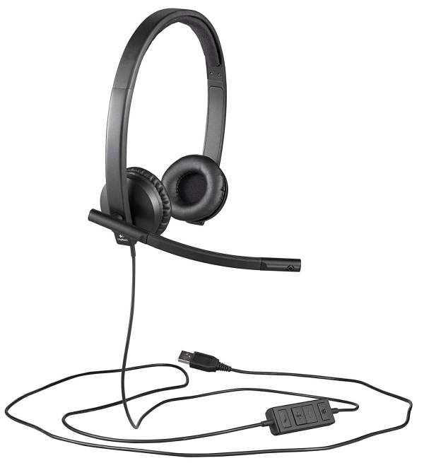 Logitech USB H570e Corded Double-Ear Headset (981-000574)-9542