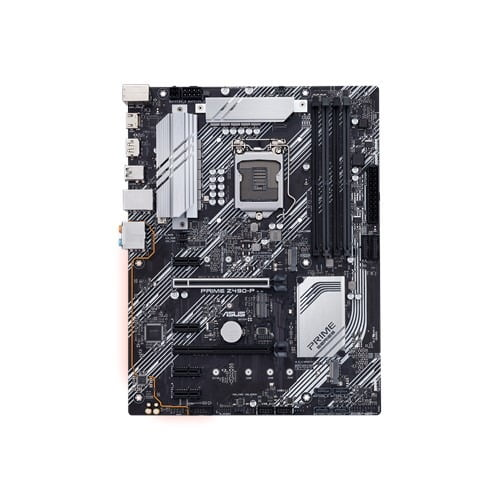 Asus PRIME Z490-P Intel® Z490 (LGA 1200) ATX motherboard with dual M.2, 11 DrMOS power stages, 1 Gb Ethernet, HDMI, DisplayPort, SATA 6Gbps, USB 3.2 Gen 2, Thunderbolt™ 3 support, and Aura Sync RGB Lighting-9851