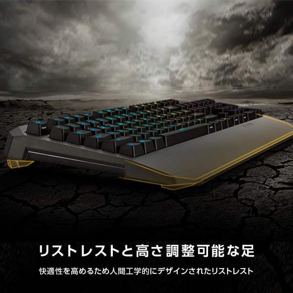ASUS TUF Gaming K5 RGB Keyboard with Tactile Mech-Brane Key switches, Specialized Coating for Extended Durability, Spill-Resistance and Aura Sync Lighting-10031