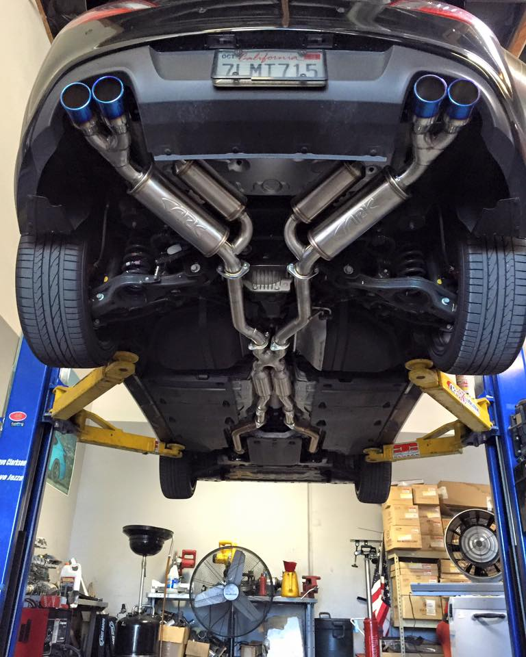 ark performance grip catback exhaust genesis coupe 3 8 2010 2016 4inch tips