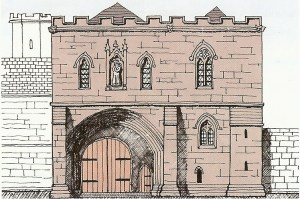 The Gatehouse as it might have appeared in the Middle Ages