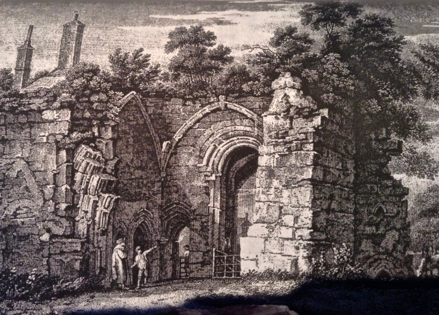 Engraving of the Tantara Gatehouse