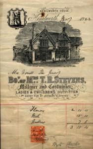 Kenilworth House invoice, 1922