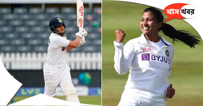 Shafali Verma and Sneh Rana did well in debut test, were nominated for the ICC Player of the Month