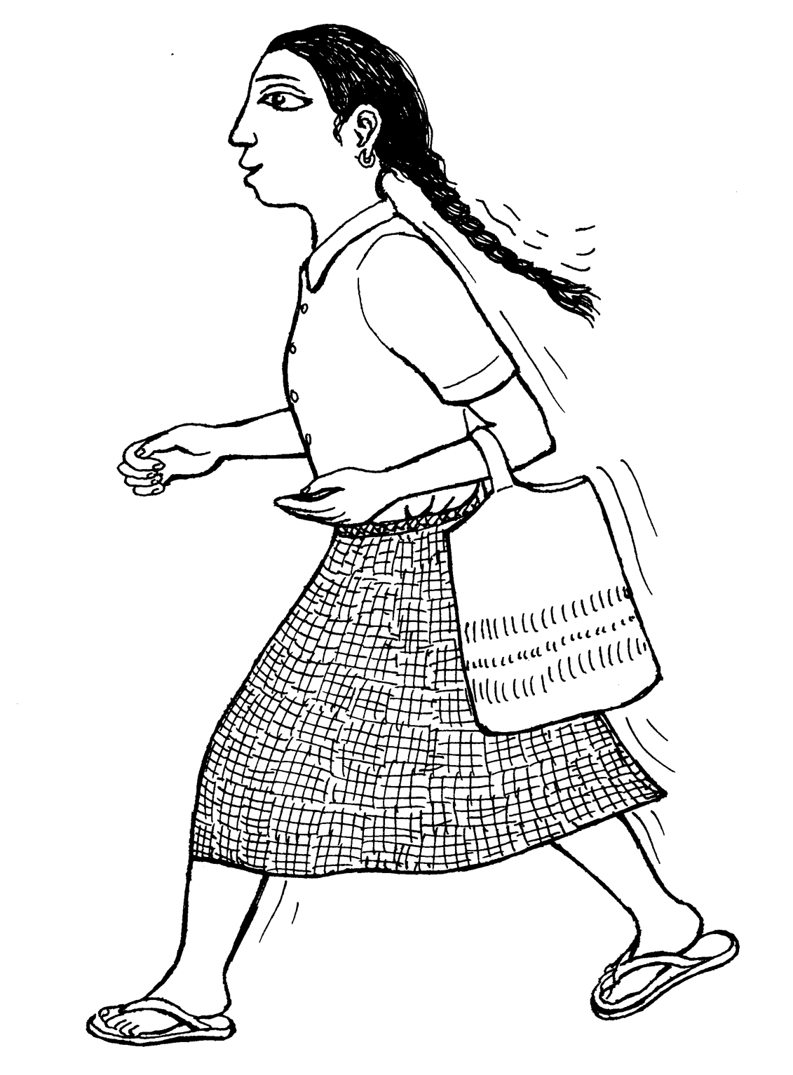 Walking Away Coloring Pages
