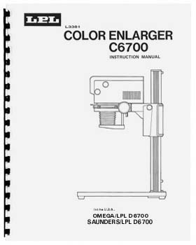 Instruction Manual for LPL C6700 and Saunders/LPL D6700