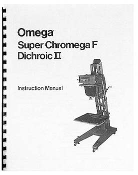 Instruction Manual & Parts Lists for Omega Super Chromega