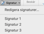 skapa signatur i outlook för mac