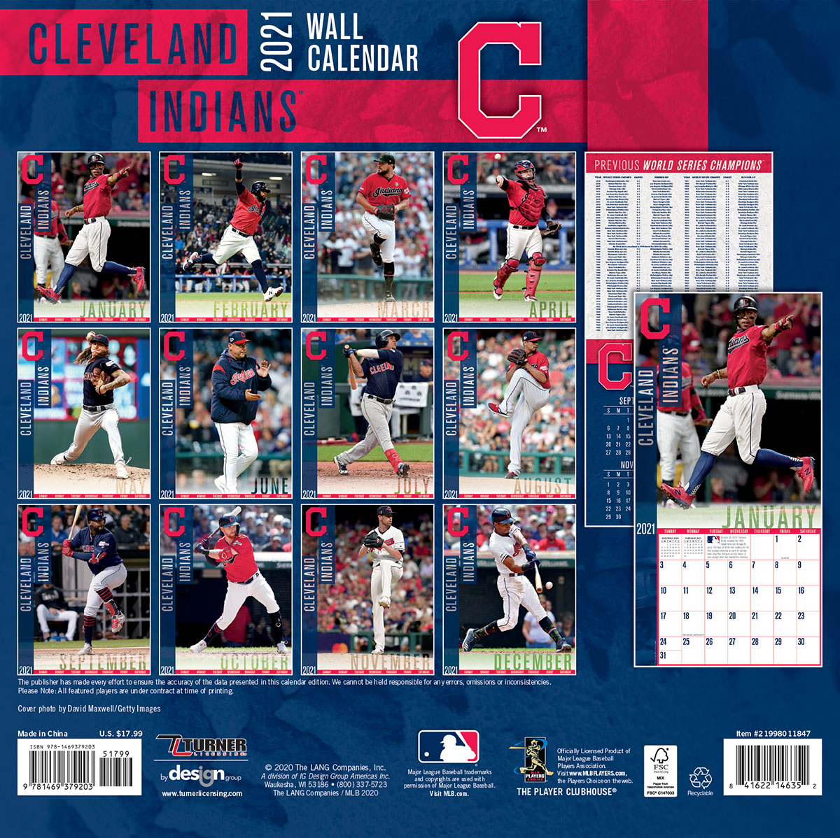 Cleveland Indians 2019 Mini Wall Calendar Buy At KHC Sports