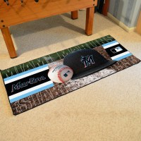 Miami Marlins Baseball Carpet Runner 30 x 72 floor mat ...