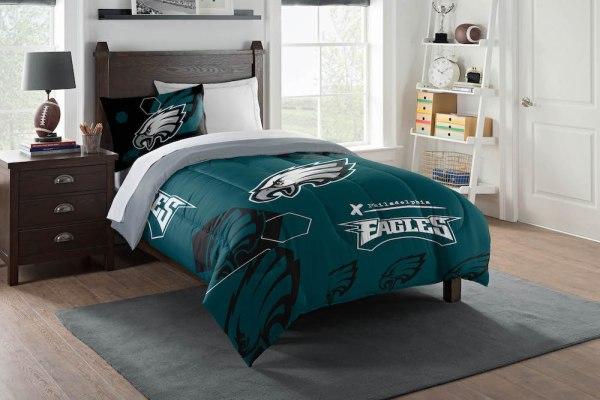 Philadelphia Eagles Twin Comforter Set With Sham