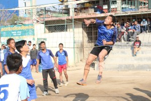 Lalitpur: Aadarsha Soul And Pawan Pakriti In The Finals Of 9th President's Cup Running Shield Boys' Volleyball - Khel Dainik