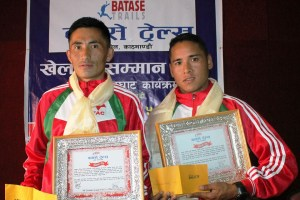 Medalist of FWD North Pole Marathon Honored With Rs. 10, 000; Date for 3rd Batase Trail Race Also Announced - Khel Dainik