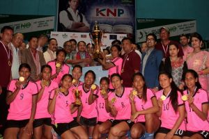 APF lifts KNP National Women's Volleyball title - Khel Dainik