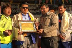 Sudarshan honored - TexasNepal