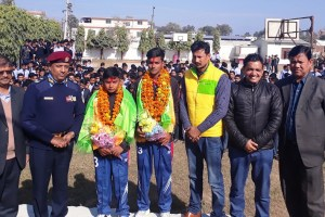 Two players from U-16 honored - Khel Dainik