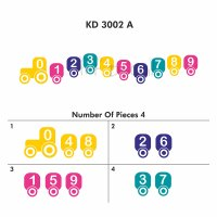 Buy Numbers Train Activity Wall Decal Kd3002 Online In