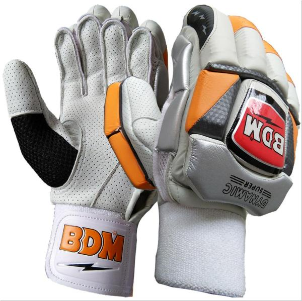 Bdm Dynamic Super Cricket Batting Gloves White Black And