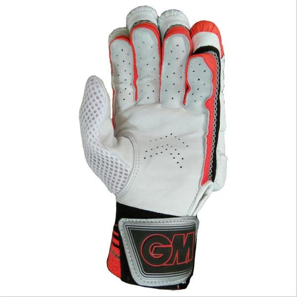 Gm 505 Cricket Batting Gloves White Orange And Black