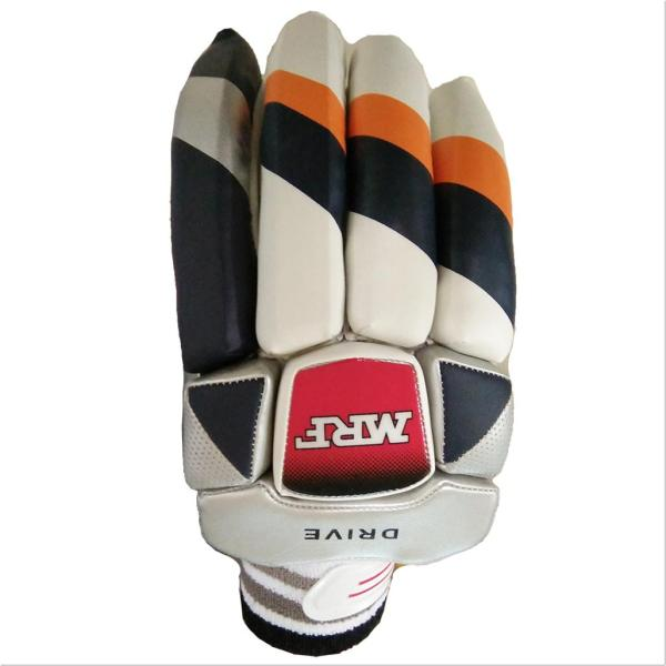 Mrf Drive Cricket Batting Gloves White Black And Orange