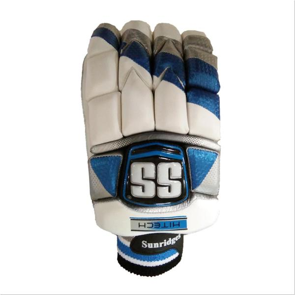 Ss Tech Cricket Batting Gloves White And Blue