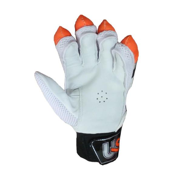 Club Lite Cricket Batting Gloves White Orange And Black