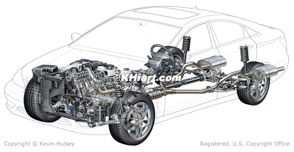 Generic car ABS systems, electrical systems, exhaust